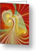 Fractal Art Pastels Greeting Cards - The Essence of Time Greeting Card by Gayle Odsather