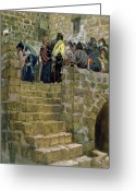 James Jacques Joseph Greeting Cards - The Evil Counsel of Caiaphas Greeting Card by Tissot