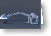 Featured Digital Art Greeting Cards - The Evolution of Man Greeting Card by Andre Deherrera