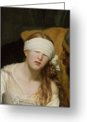 1833 Greeting Cards - The Execution of Lady Jane Grey Greeting Card by Hippolyte Delaroche