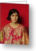 Floral Blouse Greeting Cards - The Exile - Heavy is the Price I Paid for Love Greeting Card by Thomas Cooper Gotch