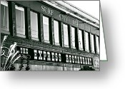 Train Car Greeting Cards - The Express Restaurant Greeting Card by John Rizzuto