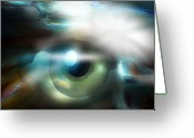 Surrealism Greeting Cards - The Eye Of The Storm Greeting Card by Bob Salo