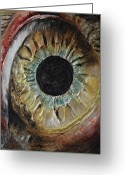 Eye Reliefs Greeting Cards - The Eye Greeting Card by Tatiana Ilieva