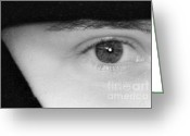 Sold Greeting Cards - The Eyes Have It Greeting Card by Christine Till