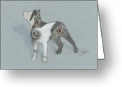 Pit Bull Greeting Cards - The Eyes Have It Greeting Card by Stacey Jasmin