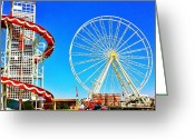 Featured Greeting Cards - The Fair on Blacheath Greeting Card by Samuel Gunnell