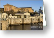Schuylkill Greeting Cards - The Fairmount Water Works and Art Museum Greeting Card by John Greim