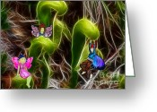 Green Vines Greeting Cards - The Fairys Playground Greeting Card by Methune Hively
