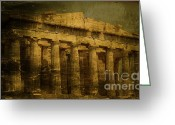 Greek Sculpture Greeting Cards - The fall of Athens Greeting Card by Lee Dos Santos