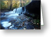 Greenwich Greeting Cards - The Falls River Greeting Card by Andrew Pacheco