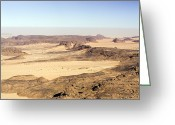 Arid Climate Greeting Cards - The Far Reaches Of The Ennedi Mountains Greeting Card by Michael Fay