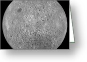 Lunar Mare Greeting Cards - The Far Side Of The Moon Greeting Card by Stocktrek Images