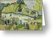 Summer On The Farm Greeting Cards - The Farm in Summer Greeting Card by Vincent van Gogh