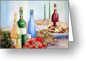 Feast Greeting Cards - The Feast Greeting Card by Deborah Ronglien