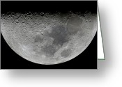 Lunar Mare Greeting Cards - The Feature Known As Lunar-x Visible Greeting Card by Luis Argerich