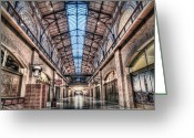 Stores Greeting Cards - The Ferry Market Building Greeting Card by Scott Norris