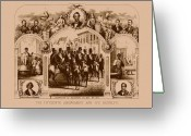Black History Greeting Cards - The Fifteenth Amendment And Its Results Greeting Card by War Is Hell Store