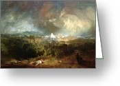 Romanticist Greeting Cards - The Fifth Plague of Egypt Greeting Card by Joseph Mallord William Turner
