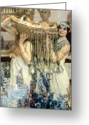 Alma-tadema Greeting Cards - The Finding of Moses by Pharaohs Daughter Greeting Card by Sir Lawrence Alma-Tadema