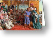 Son Of God Greeting Cards - The Finding of the Savior in the Temple Greeting Card by William Holman Hunt