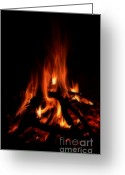 Ignite Greeting Cards - The Fire Greeting Card by Donna Van Vlack