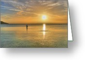 Cole Photo Greeting Cards - The fisherman Greeting Card by David Hibberd