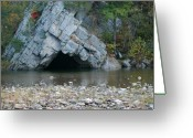 Trout Stream Greeting Cards - The Fishing Hole Greeting Card by Randy Bodkins