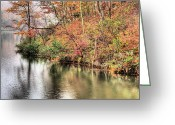 Forrest  Greeting Cards - The Fishing Spot Greeting Card by JC Findley
