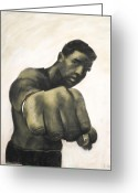 Originals Pastels Greeting Cards - The Fist Greeting Card by L Cooper