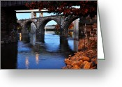 Schuylkill Greeting Cards - The Five Bridges - East Falls - Philadelphia Greeting Card by Bill Cannon
