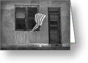 Old Doors Greeting Cards - The Flag a Window and a Door Greeting Card by James Steele