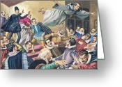 Disbelief Greeting Cards - The Flight of Father Dominic Greeting Card by English School