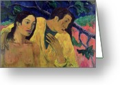 Gauguin Greeting Cards - The Flight Greeting Card by Paul Gauguin