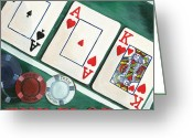 Playing Cards Greeting Cards - The Flop Greeting Card by Debbie DeWitt