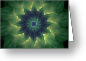 Twirl Greeting Cards - The Flower Greeting Card by Ricky Barnard