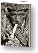 Philippines Art Greeting Cards - The Flute Greeting Card by Skip Nall