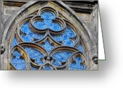 Holy Scripture Greeting Cards - The folly of windows in Prague Greeting Card by Christine Till
