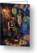 Wacom Tablet Greeting Cards - The Fool Dreamer Greeting Card by Kd Neeley