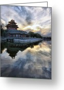 Forbidden City Greeting Cards - The Forbidden City Greeting Card by Svilen Georgiev