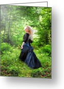 "\\\""photo Manipulation\\\\\\\"" Greeting Cards - The Forest Beckons Greeting Card by Nikki Marie Smith"