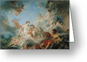 Quiver Greeting Cards - The Forge of Vulcan Greeting Card by Francois Boucher