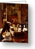 Tacoma Greeting Cards - The Fort Nisqually Kitchen Greeting Card by David Patterson