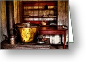 Tacoma Greeting Cards - The Fort Nisqually Wash Room Greeting Card by David Patterson