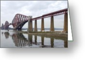 Bridge Digital Art Greeting Cards - The Forth - Scotland Greeting Card by Mike McGlothlen