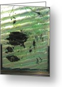 Mixed-media Glass Art Greeting Cards - The Forth River Meets the Sea Greeting Card by Sarah King