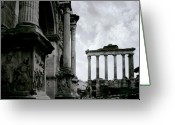 Ancient Rome Greeting Cards - The Forum Greeting Card by Traveler Scout