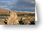 Lake Tekapo Greeting Cards - The Foundation Stands Greeting Card by Jan Lawnikanis