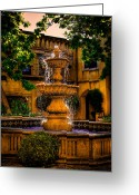 Del Norte Greeting Cards - The Fountain at Patio Del Norte Tlaquepaque in Sedona Greeting Card by David Patterson