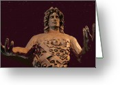 Spiritual Sculpture Greeting Cards - The fountain of man Greeting Card by Larkin Chollar